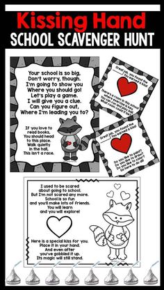 The Kissing Hand Kissing Hand FUN for the beginning of the Year! Kissing Hand Activities, First Day Of School Activities, 1st Day Of School, Beginning Of The School Year, Book Activities, Pre School, Toddler Activities, Beginning Of Kindergarten, Kindergarten Literacy