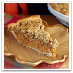 Apple Butter #Pumpkin #Pie with Streusel Topping