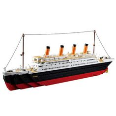 Model building kits compatible with lego city Titanic RMS ship 3D blocks Educational model building toys hobbies for children (32649571798)  SEE MORE  #SuperDeals