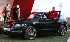 Monsieur #KarimBenzema au coté d'une sublime #Audi !  Alors qu'avez vous pensé du match de hier (Equateur-France) ? N'oubliez pas d'aller faire vos pronostics pour gagner un #IpadMini : http://qlic.it/78870