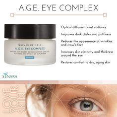 We LOVE SkinCeuticals A.G.E. Eye Complex- bye bye tired, aging eyes!