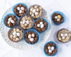 Chocolate Easter nests with mini marshmallows and chopped apricots are the perfect recipe to make with kids, by Katie Bryson
