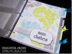recipe binder - cute template
