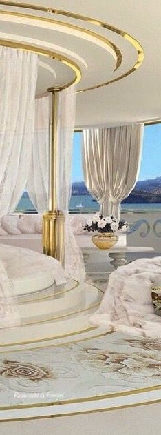 Rosamaria G Frangini | Architecture Luxury Interiors | MM&Co | White and gold master bedroom