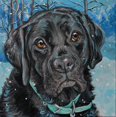 """Remy at Tahoe Donner"" 16x16"". The 10% donation goes to Palomino Valley Pet Rescue."