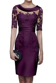 Charm Bridal Satin Appliqued Tight Mother of Bride Women Party Dress with Sleeve… Charm Braut Satin appliziert enge Mutter der Braut Ca. Party Dresses With Sleeves, Party Dresses For Women, Lace Dress With Sleeves, Elegant Dresses, Pretty Dresses, Beautiful Dresses, Mother Of Groom Dresses, Mothers Dresses, Dress Brokat