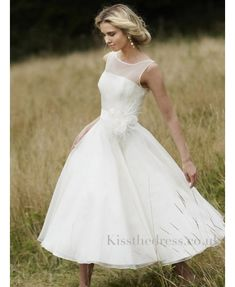 Tea Length Wedding Dresses For Older Brides | ... at short beach wedding dresses collections from Kissthedress.co.uk