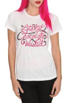 Chocolate Wasted Girls T-Shirt
