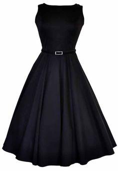Lady V London Retrostijl klassieke zwarte jurk