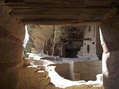 Interior of Balcony House Anasazi ruins, Mesa Verde