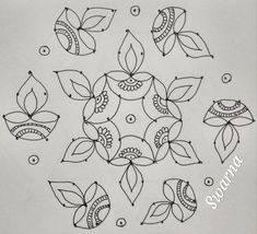 Simple Rangoli Border Designs, Indian Rangoli Designs, Rangoli Designs Flower, Rangoli Borders, Small Rangoli Design, Rangoli Ideas, Rangoli Designs Images, Rangoli Designs With Dots, Flower Rangoli