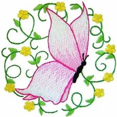 butterfly1 - Butterfly Machine Embroidery Design