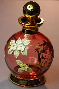 Bohemian Glass Bottle with Stopper
