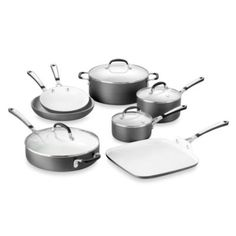 Buy Simply Calphalon® Ceramic Nonstick 11-Piece Cookware Set from Bed Bath & Beyond $250