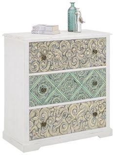 Hübsche Kommode im Vintage-Stil - ein Blickfang mit Charme Vintage Stil, Decorative Boxes, Home Decor, Glamour, Morocco, Dresser, Deco, Decoration Home, Room Decor