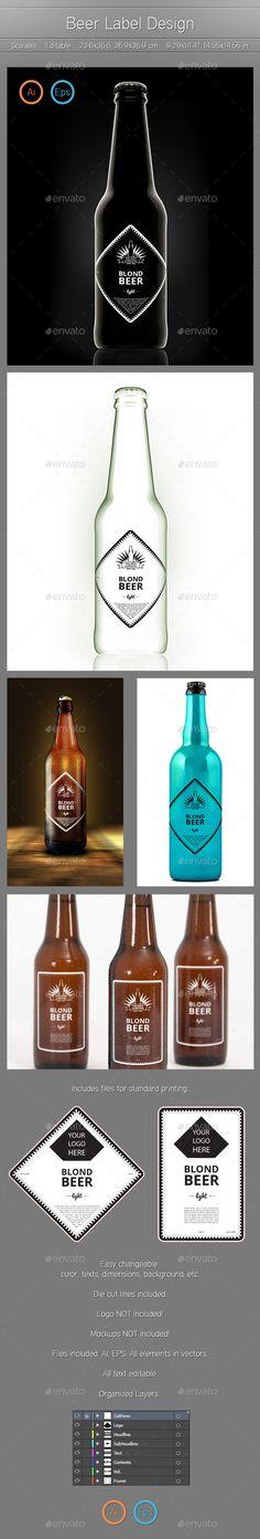 Beer Label Designs - Packaging Print Templates