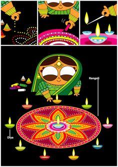 Happy diwali by Sanjay Patel