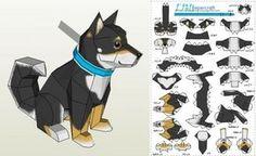 Chobi Dog Paper Toy - by Ten Pepakura