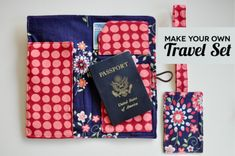 Learn how to make your own travel set- a fun sewing project with step by step tutorial!