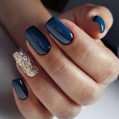 new years nails dip powder & new years nails . new years nails acrylic . new years nails gel . new years nails glitter . new years nails dip powder . new years nails design . new years nails short . new years nails coffin Cute Acrylic Nails, Acrylic Nail Designs, Cute Nails, Gold Nail Designs, Winter Acrylic Nails, Gel Polish Designs, Latest Nail Designs, Stylish Nails, Trendy Nails