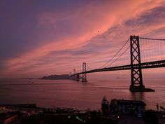 Sunrise over the Bay Bridge and Treasure Island