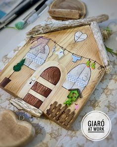 Diy Home Crafts, Diy Crafts To Sell, Diy Crafts For Kids, Arts And Crafts, Summer Camp Crafts, Camping Crafts, Wooden Projects, Wooden Crafts, Driftwood Crafts