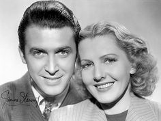 """Jimmy Stewart and Jean Arthur - promo for """"Mr. Smith Goes to Washington"""""""