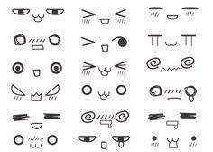 chibi type faces