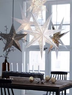 Top 40 Christmas Star Decorations Ideas – Christmas Celebration – All about Christmas – Home Decoration Church Christmas Decorations, Scandinavian Christmas Decorations, Modern Christmas Decor, Christmas Interiors, Tree Decorations, Contemporary Christmas Decorations, Diy Decoration, Noel Christmas, All Things Christmas