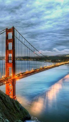 Golden Gate Bridge iPhone 5 wallpapers, backgrounds, 640 x 1136