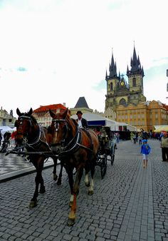 The Old Town Square, Prague, Czech Republic. The square is rich in architectural styles: Romanesque, Baroque, Rococo, Gothic and Renaissance. By Luis Jacome.
