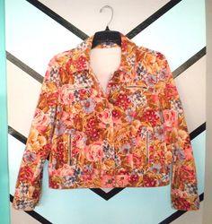Floral Velveteen Jacket by DCXSpringfield on Etsy, $42.00