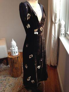Find! Sexy Prada Velvet and Silk Precious Dress! Love! Love! $5K Size 42 #PRADA #Sexy #Cocktail
