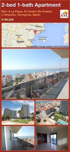 2-bed 1-bath Apartment in 60m A La Playa, El Centro De Pueblo, L'Ampolla, Tarragona, Spain ►€190,000 #PropertyForSaleInSpain
