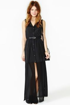 Long black dress. Casual dress