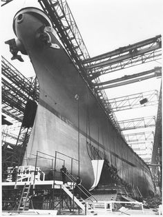 Early in the day of battleship Missouri's (BB-63) launch at the New York Navy Yard on 29 January 1944.