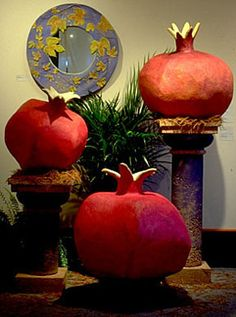 Pomegranate~Lewis and Little Sculpture