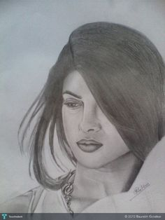 Priyanka Chopra - Creative Art in Sketching by Saurabh Golatkar in Portfolio Portraits at Touchtalent