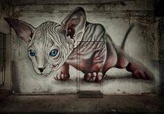 Street Art for Peace manifestation on 10 November at Beursplein, Amsterdam by CHUCK ONE