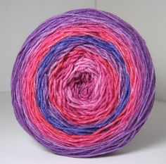 Sock Garden Party Cake  Hand Painted Tonal Yarn  Reds by ArtByAna, $26.00