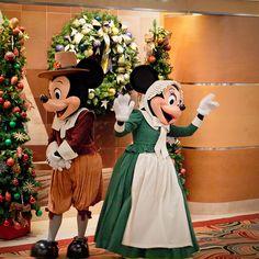 Not your Average Pilgrims.. Mickey & Minnie