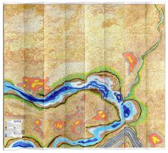 mapa (imaginario) Rio Limay - (imaginary) map of Limay River - Ingrid Roddick