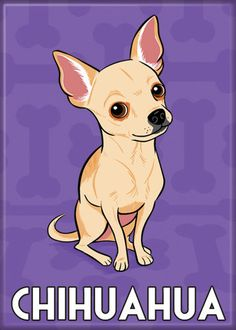 Magnet Chihuahua by doggiedrawings on Etsy, $4.00 #chihuahua #chihuahuatypes #chihuahuadogs