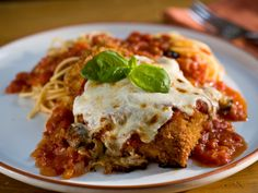 Chicken Parmesan from Tyler Florence...the fresh mozzarella is what really makes this delicious!