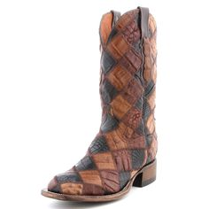 BootDaddy Collection with Lucchese Patchwork Caiman Cowboy Boots {These are some crazy awesome boots!}