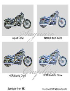SPORTSTER Iron 883 Motorcycle Altered Art   by SaguaroGraphics