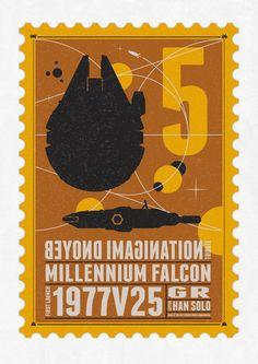 Beyond imagination: Millenium Falcon postage stamp  Art Print