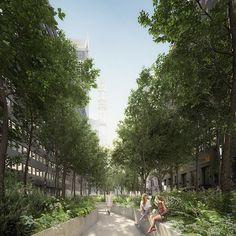A Wild Place – a vision for Beyond the Centerline international design competition #newyork #design #concept #render #perspective #landscape #urbanism #wild #rewild #life #visualisation