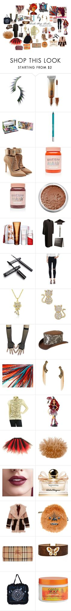 """Monster High: Toralei's Graduation Day"" by mimi-world on Polyvore featuring Beauty Is Life, Urban Decay, Puma, Lime Crime, Bare Escentuals, Clarins, J Brand, Overland Sheepskin Co., Maria Francesca Pepe and MARC CAIN"