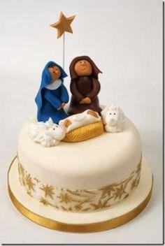 Image Result For Tortas De Nacimientos Del Nino Jesus Christmas Cake Decorations Christmas Cake Xmas Cake